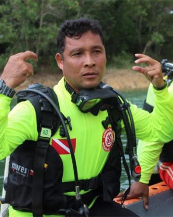 """""""พี่จวบ""""กับบทบาท""""นักประดาน้ำ"""" 12 ปี ความท้าทายและภารกิจเสี่ยงตายเพื่อช่วยเหลือผู้ประสบภัย"""
