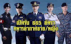 ประกาศทหารอากาศชาย/หญิง เปิดรับ 665 อัตรา