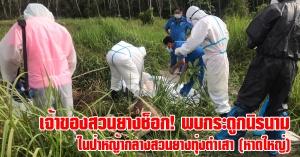 หาดใหญ่ | เจ้าของสวนยางพบโครงกระดูกมนุษย์ หลังกำลังตัดหญ้าเพื่อความเรียบร้อย ก่อนโทรแจ้งตำรวจเข้าตรวจสอบ (เบื้องต้นไม่ทราบเพศอายุ)