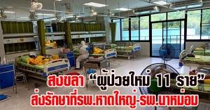 สงขลา |  พบผู้ป่วยใหม่ 11 ราย ส่งรักษาที่รพ.หาดใหญ่-นาหม่อม โดยมีทีมแพทย์ดูแลอย่างใกล้ชิด