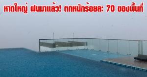 หาดใหญ่ | เตรียมพกร่ม! ฝนตกหนักร้อยละ 70 ของพื้นที่