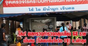 พัทลุง | ชาวพัทลุงโล่งใจ ผลตรวจตำรวจกลุ่มเสี่ยง 68 ราย เป็นลบ (ไม่พบเชื้อโควิด-19)